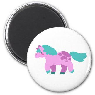 Cutesy Pink Pony 6 Cm Round Magnet