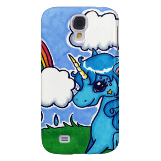 Cutesy Unicorn and Rainbow Galaxy S4 Case