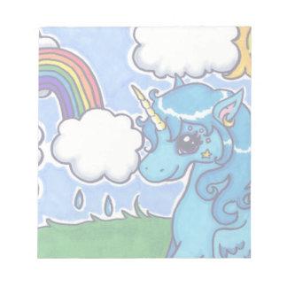 Cutesy Unicorn and Rainbow Notepad
