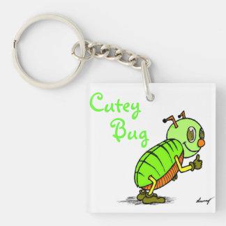 Cutey Bug Acrylic Keychain - Green