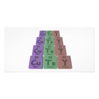 Cutey-Cu-Te-Y-Copper-Tellurium-Yttrium png Customised Photo Card