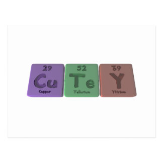Cutey-Cu-Te-Y-Copper-Tellurium-Yttrium png Postcards