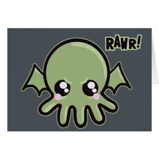 Cutie Baby Cthulhu Card