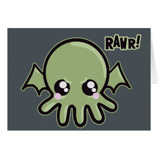 Cutie Baby Cthulhu Greeting Cards