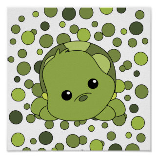 Cutie Baby Turtle Poster