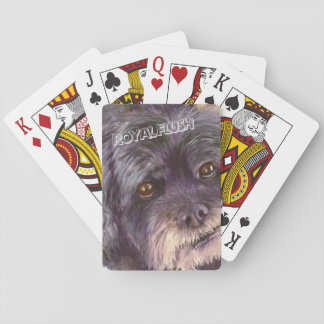 CUTIE BLACK COCK-A-POO MIX PLAYING CARDS