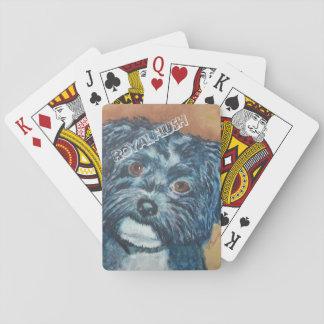 CUTIE BLACK HAVANESE PLAYING CARDS