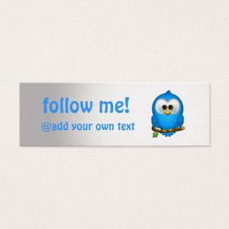Cutie Blue Tweet Bird Skinny Business Cards