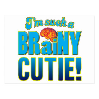 Cutie Brainy Brain Postcard
