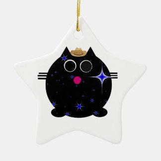 Cutie Cats Ceramic Star Decoration