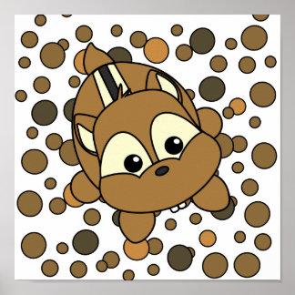 Cutie Chipmunk Poster