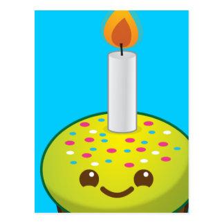 Cutie Cupcake Happy Birthday smiles Postcard