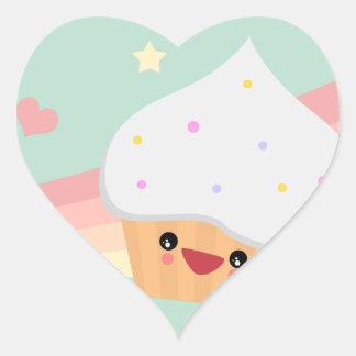 Cutie Cupcake Heart Sticker