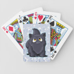 Cutie Face Black Cat Playing Cards