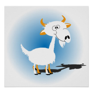 Cutie Goat Poster