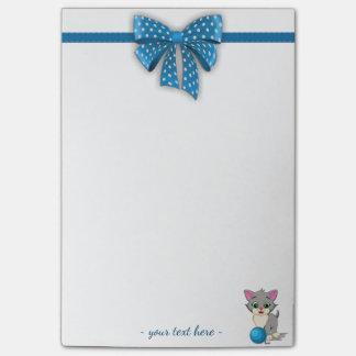 Cutie Grey Kitten Cartoon Post-it® Notes