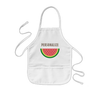 Cutie kids baking apron with cute watermelon slice