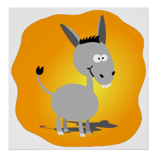 Cutie little Donkey Poster