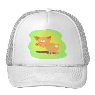 Cutie little piggy trucker hats
