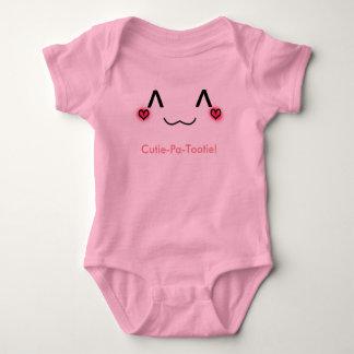 Cutie pa tootie baby onsie tee shirts