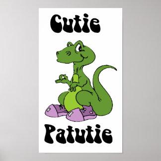 Cutie Patutie Dino Poster
