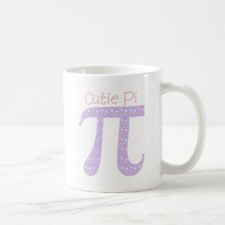 Cutie Pi Lavender with Polka Dots Classic White Coffee Mug