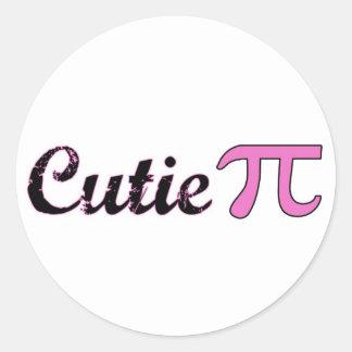 Cutie Pi Round Sticker