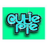 CUTIE PIE BABYBLUE POST CARD