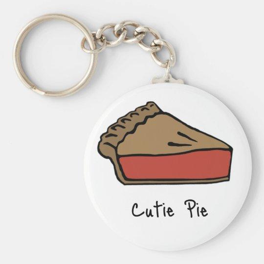 Cutie Pie Basic Round Button Key Ring