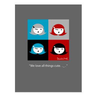 Cutie Pie Girls Postcard