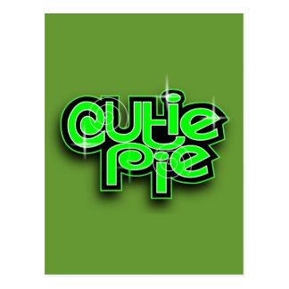 CUTIE PIE LIME POSTCARD