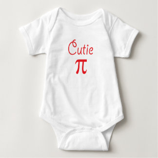 Cutie pie pi geeky and cute baby bodysuit in red