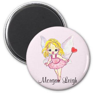 Cutie Pie Pink Fairy Refrigerator Magnet