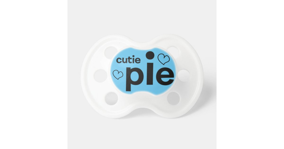 cutie pie soother for baby boy baby pacifier zazzle