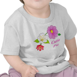 Cutie Pie T Shirts Floral Hawaiian Infant Clothes