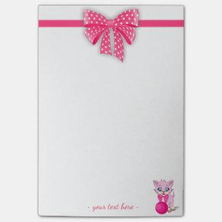 Cutie Pink Kitten Cartoon Post-it® Notes