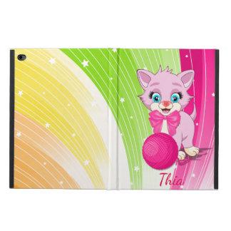 Cutie Pink Kitten Cartoon Powis iPad Air 2 Case