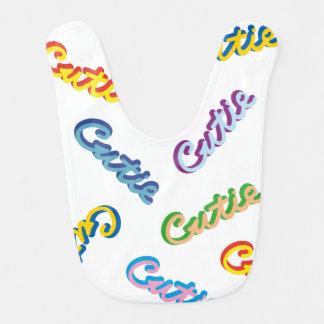 Cutie Text Multicolor Pattern Bib