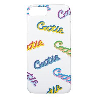 Cutie Text Multicolor Pattern iPhone 8/7 Case
