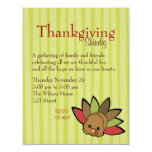 Cutie Turkey 11 Cm X 14 Cm Invitation Card