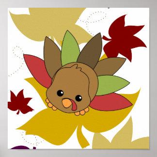 Cutie Turkey Poster