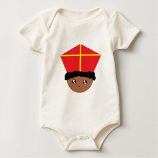 Cutieful Kids Art St. Nicholas Miter Zwarte Piet Baby Bodysuit