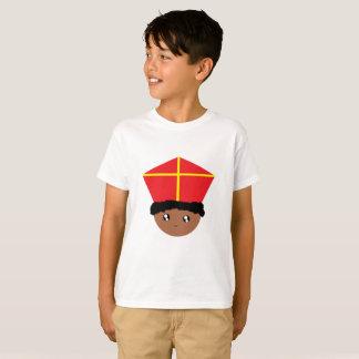 Cutieful Kids Art St. Nicholas Miter Zwarte Piet T-Shirt