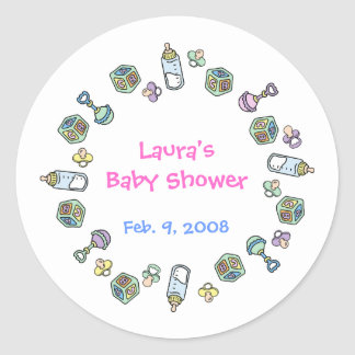 Cutietoots Baby Shower Party Favor Sticker