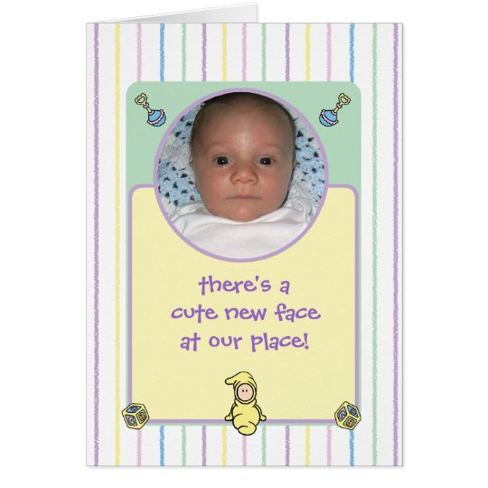 Cutietoots Birth Announcment (Boy or Girl) Card