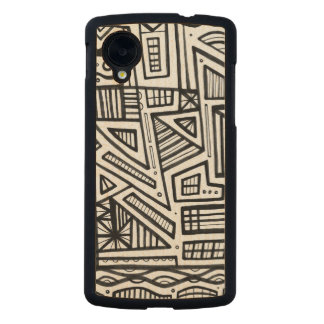 Cutillo Abstract Expression Black and White Carved® Maple Nexus 5 Case