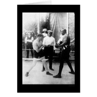 Cutler vs. Johnson Boxing Match 1914 Greeting Card