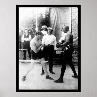 Cutler vs Johnson Boxing Match 1914 Poster