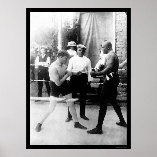 Cutler vs. Johnson Boxing Match 1914 Poster