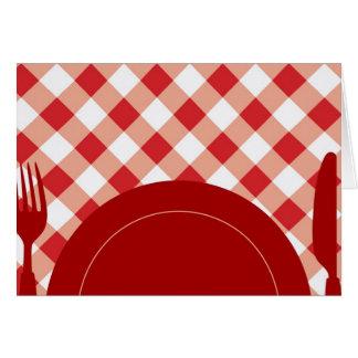 Cutlery & Dish Card